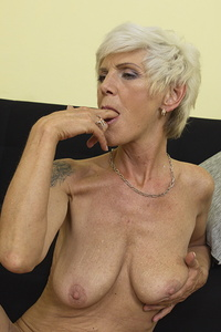 Horny British housewife playing alone